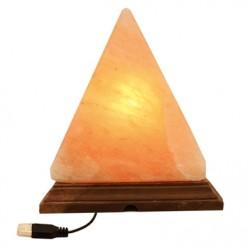 Lámpara de Sal Pirámide 13 cm Multicolor USB