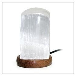 Lámpara Selenita Cilindro 10cm Multicolor